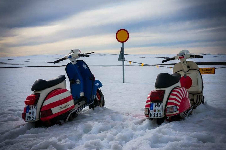 vespa px 200 im schnee