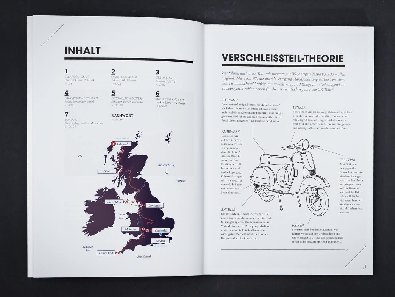 Auf der Vespa durch England > Buch